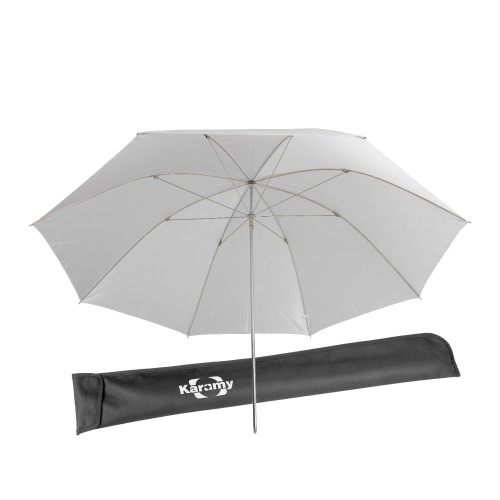 "Karamy KUB-T46 46"" White Photography Light Video Translucent Soft Umbrella"