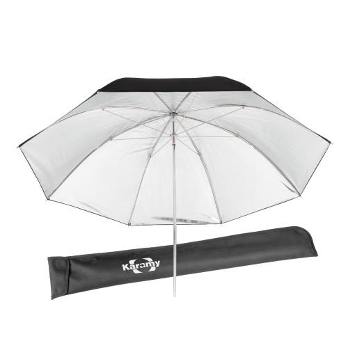 "Karamy KUB-BS41 41"" Studio Video Black Silver Soft Umbrella"