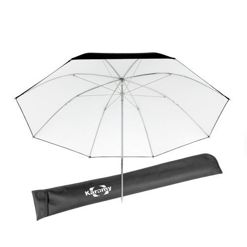 """Karamy KUB-BW46 46"""" Black And White Studio Umbrella"""