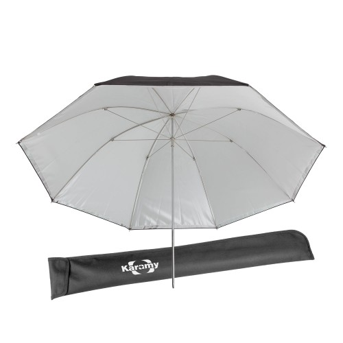 Karamy KUB-DP34 Studio Flash Reflective Black Silver Umbrella