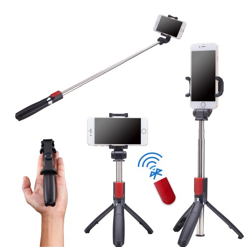 Karamy 2 in 1 Selfie Stick Tripod With Stainless Steel Pole